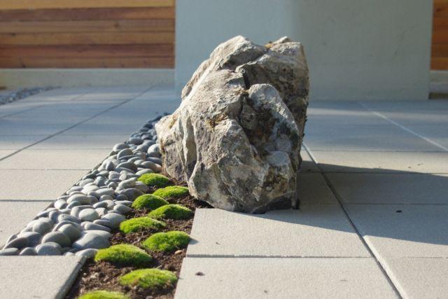 #Töne #Moos Boulders Basalt #Garten #Design – #Basalt – #Basa