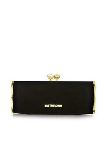 Love+Moschino+Black+and+Gold+Velvet+Clutch