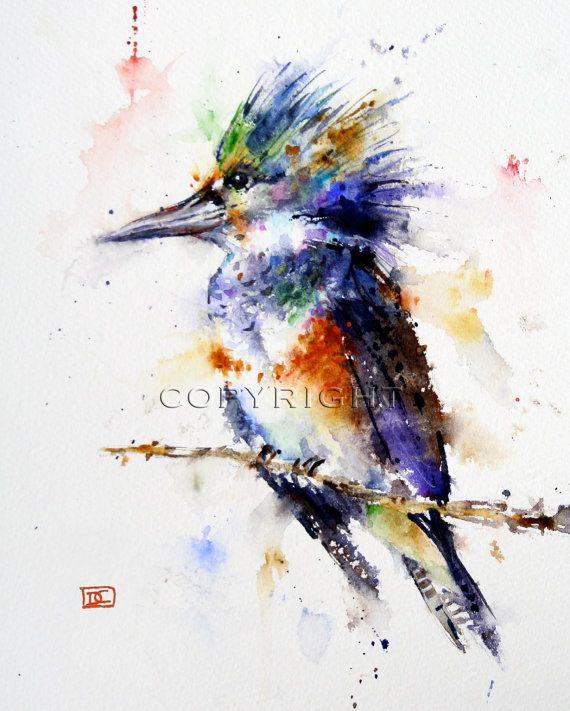 Love this artists watercolor technique