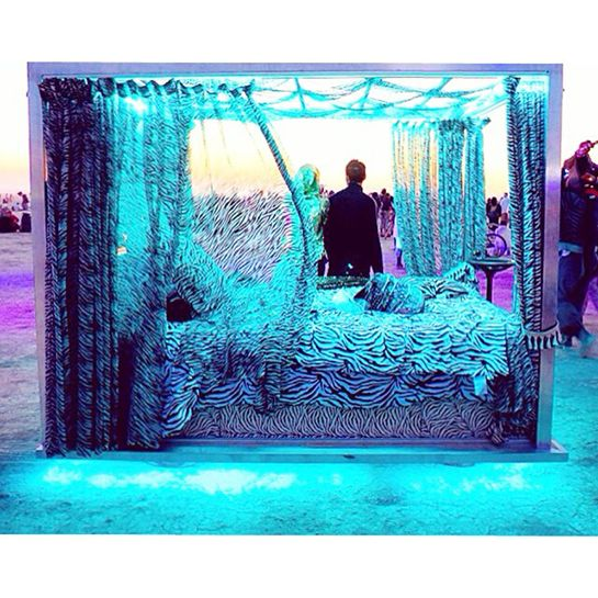 """The sanctuary  http://www.refinery29.com/2014/08/73755/burning-man-2014-pics#slide6  A sensible bed that personifies the whole """"this is where the magic happens"""" mentality."""