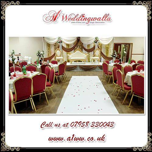 """Love isn't something you find. Love is something that finds you."" A1 Weddingwalla provide decorative #stagedecoration and #HallDecoration service. For booking call us at 07958 330043 or visit http://www.a1ww.co.uk."