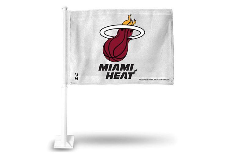 Rico Car Flag - NBA Miami Heat - White