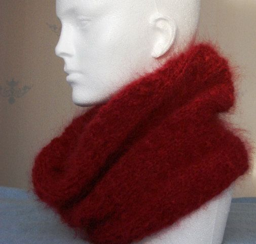 Luxurious lightweight hand knitted cowl warm and soft made
