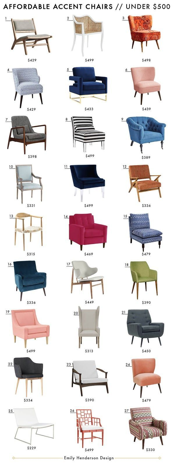 Affordable Accent Chairs Under $500 Emily Henderson Design