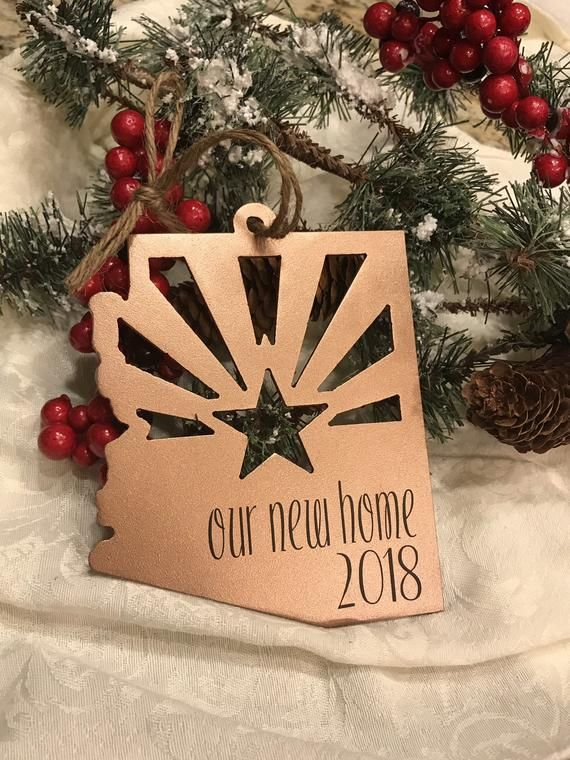 Christmas Events In Arizona 2019 $12 for sale 2019 Our new home 2018 Arizona Metal Ornament | Etsy