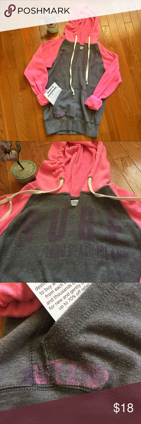 Surf hoodie From Long Island beach. A bit faded Tops Sweatshirts & Hoodies
