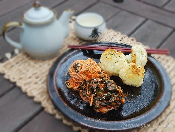 미역비빔국수 와 콜리플라워 오븐구이 : 네이버 블로그