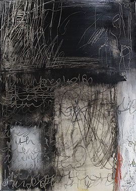 The Veiling, Which Befalls Writing v - Mixed Media Painting by Helen Teede