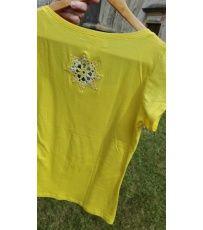Dámské tričko s krajkovou mandalou.