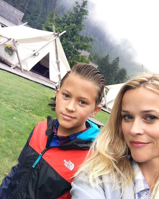 Pin for Later: Reese Witherspoon Bonds With Her Son Deacon on an Action-Packed Hiking Trip