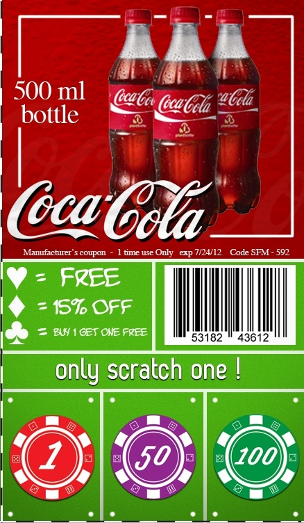 Coca-Cola Coupon From Postal Prizes