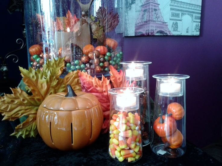 Pumpkin warmer symmetry trio for Trio miroir partylite