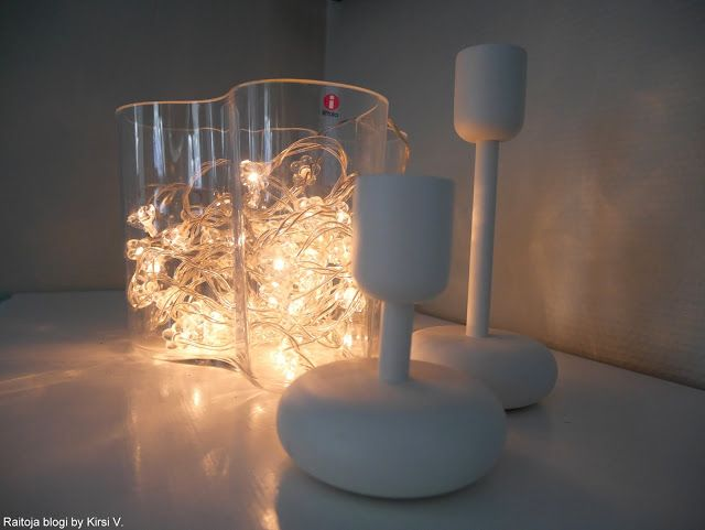 Cool way to add some light in the gorgeous Aalto vase.
