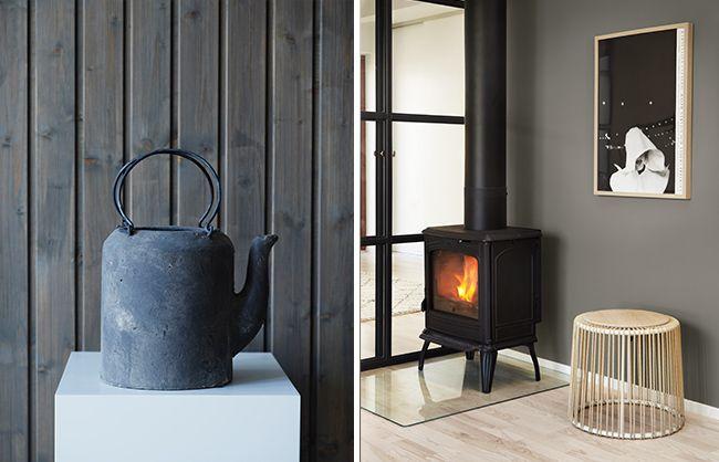 Få en rustikk og rå stil på hytta. Sort og mørke grått finner sin naturlige plass, uten å bli verken dyster eller for moderne. Velg gode fargekombinasjoner.
