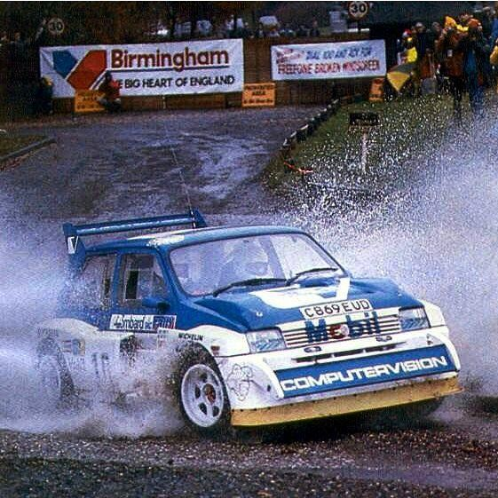 MG Metro 6R4 - RAC rally, Sutton Park spectator stage.