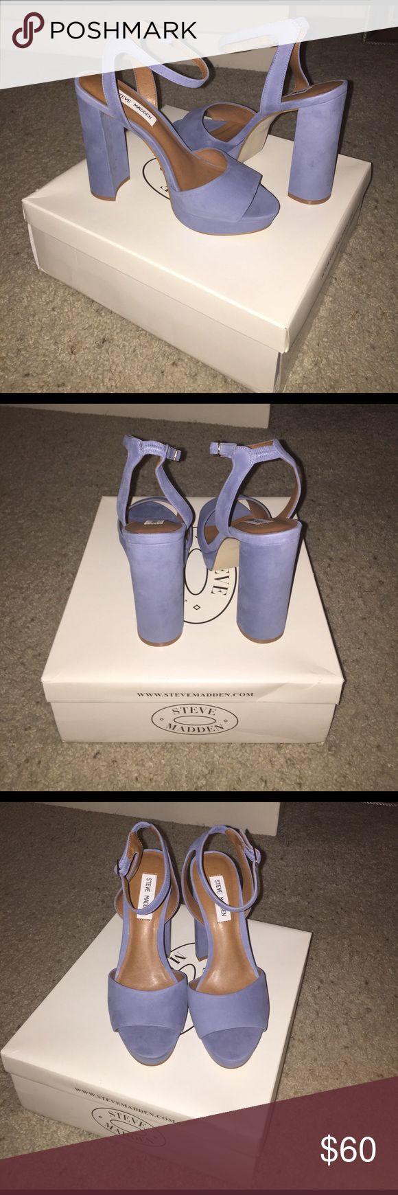 NEW Steve Madden Platform Sandals BRAND NEW Never worn Steve Madden Platform Sandals in Light Blue. Size 8. **Serious Offers Only** Steve Madden Shoes Sandals