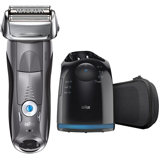 Braun Series 7 790cc Men's Electric Foil Shaver / Electric Razor with Clean & Charge Station Cordless