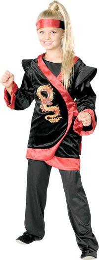 Red Dragon Girl Ninja Costume - Ninja Costumes