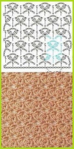 Puntada crochet. Diagrama. Más