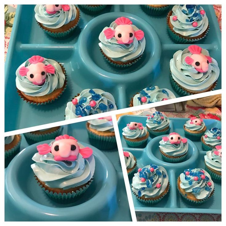 Stuff and Things — Blobfish cupcakes for Lola