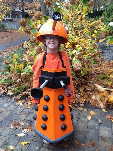 EX-TER-MIN-ATE! homemade Dalek costume (Doctor Who) guess what Adriene is being this year!!! Haha