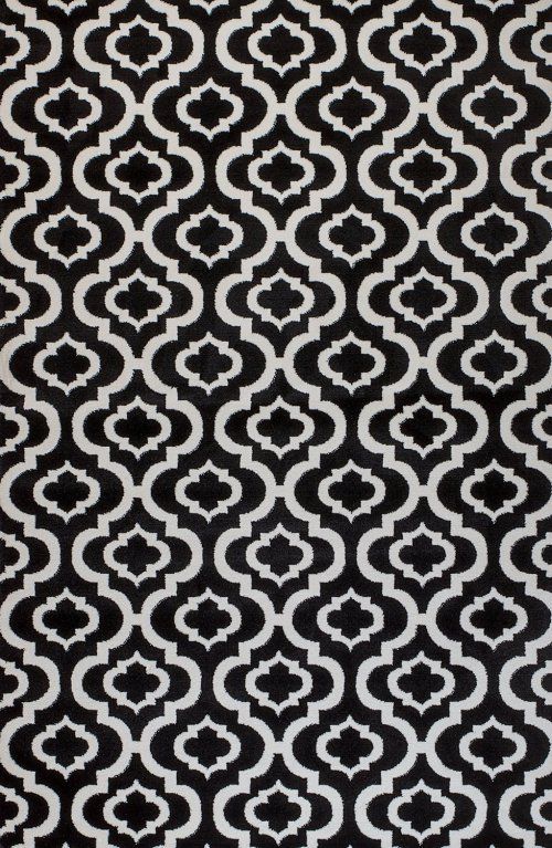 black and white trellis rug - This is our Bliss