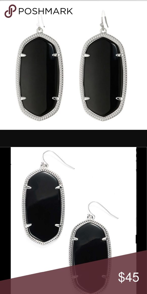 Kendra Scott Danielle Earrings NWOT never worn black and silver authentic Kendra Scott Danielle earrings Kendra Scott Jewelry Earrings
