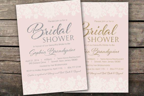 Printed or Digital Blush Bridal Shower by SavannahsMemories