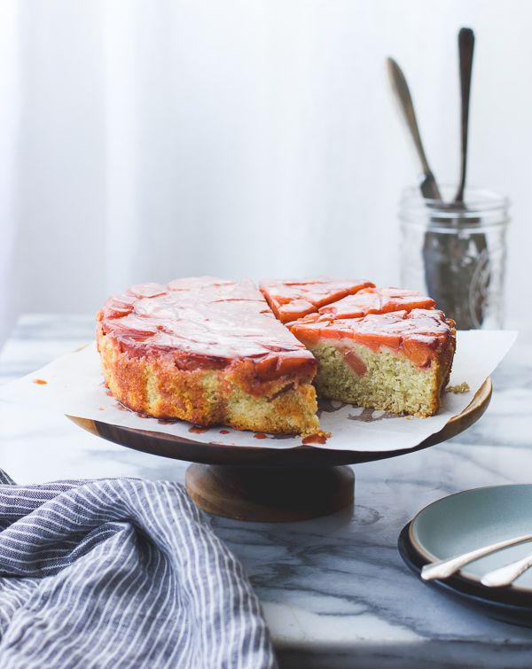 Quince poached with vermouth or white wine, vanilla and Meyer lemon make a pretty pink topping...