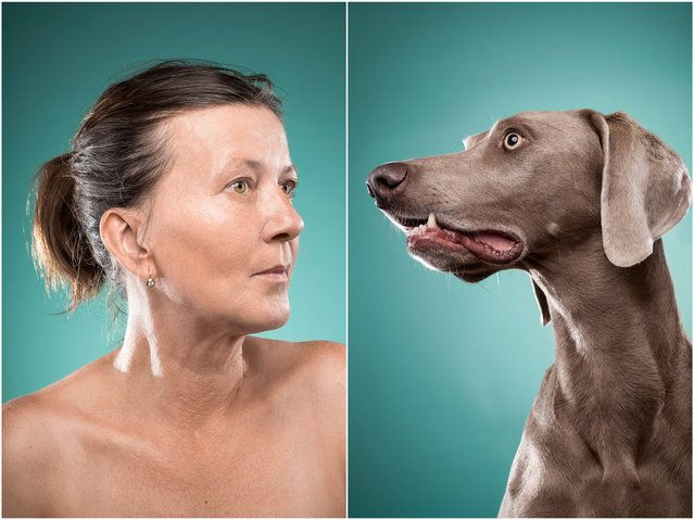 Heidi and Bob the dog. (Photo by Ines Opifanti/Caters News)| Petnook.com #Petnook