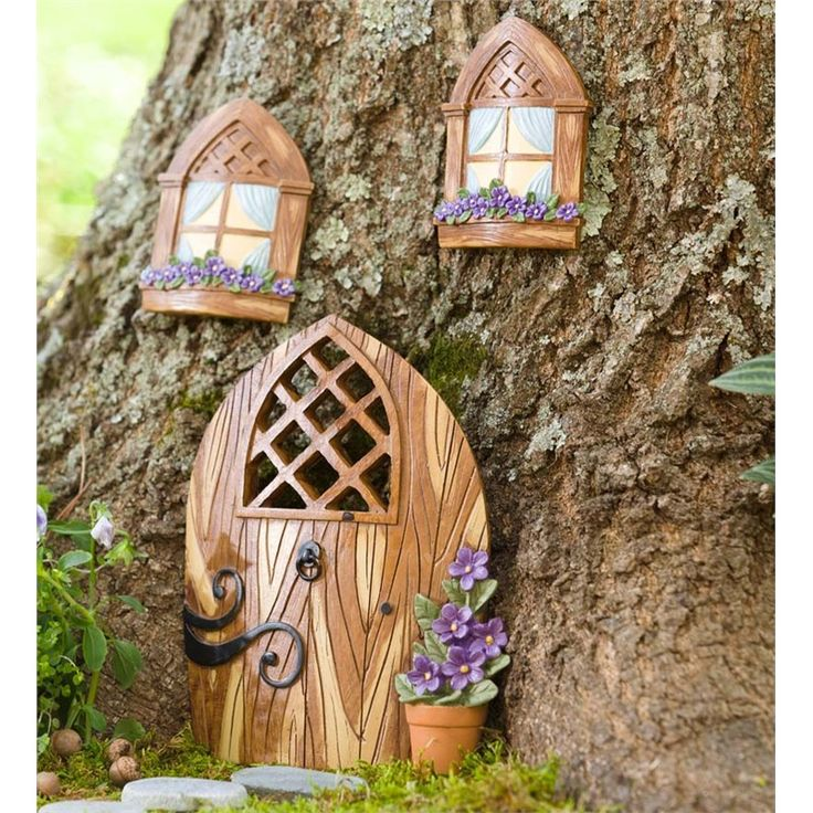17 best images about fairy garden other outdoor decor on for Outdoor fairy door