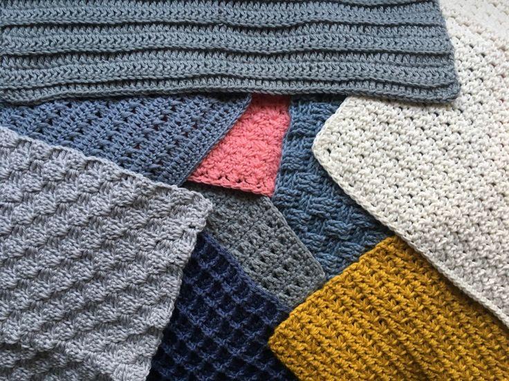 Flere hæklet karklude... 9 forskellige mønstre