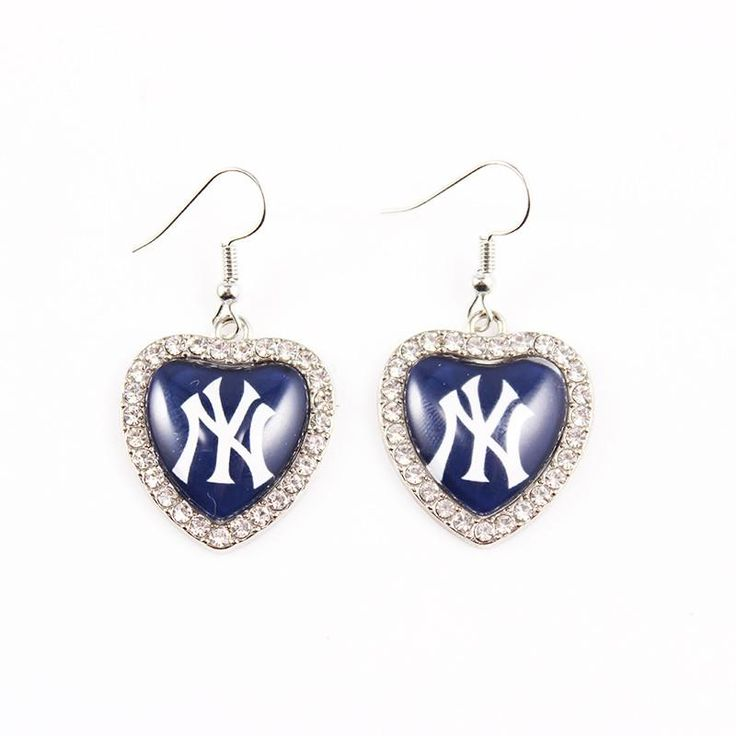 2Pairs MLB Series Jewelry New York Yankees Baseball Team Charm Drop Earrings Heart Shape. Earring Type: Drop EarringsItem Type: EarringsFine or Fashion: FashionShape\pattern: HeartMetals Type: Zinc AlloyGender: WomenBrand Name: Melone JewelryStyle: Casual/SportyMaterial: GlassModel Number: ER_152color: Same as picturejewelry type: earringPlace of origin: zhejiang China (Mainland)is_customized: YesMaterial: Zinc Alloy + GlassSize: 24mm*25mmWeight: 12.8g 1pairs