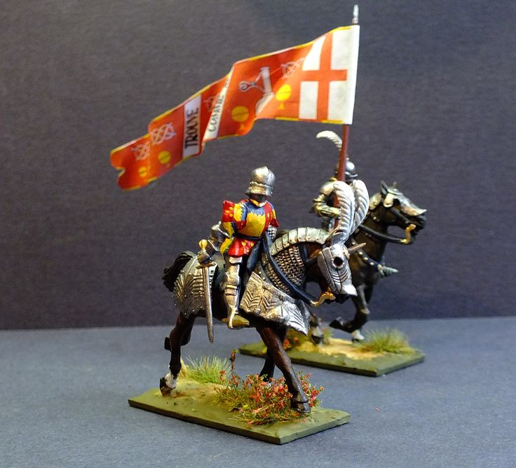 My version of Sir James Butler, Earl of Wiltshire and 5th Earl of Ormond. Wiltshire fought on the Lancastrian side, becoming one of Queen consort Margaret of Anjou's staunchest supporters. He was present at the First Battle of St Albans in 1455, Battle of Wakefield in 1460, Battle of Mortimer's Cross in 1461 and at the Battle of Towton. He died on 1 May 1461, beheaded at Newcastle by the Yorkists after the Lancastrian army was soundly defeated at the Battle of Towton.