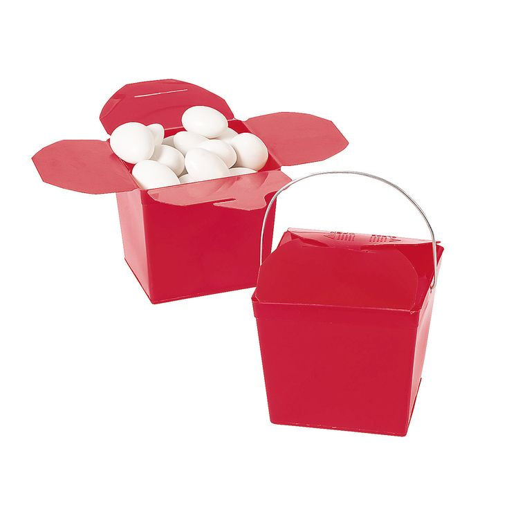 Take Out Boxes - Red - OrientalTrading.com