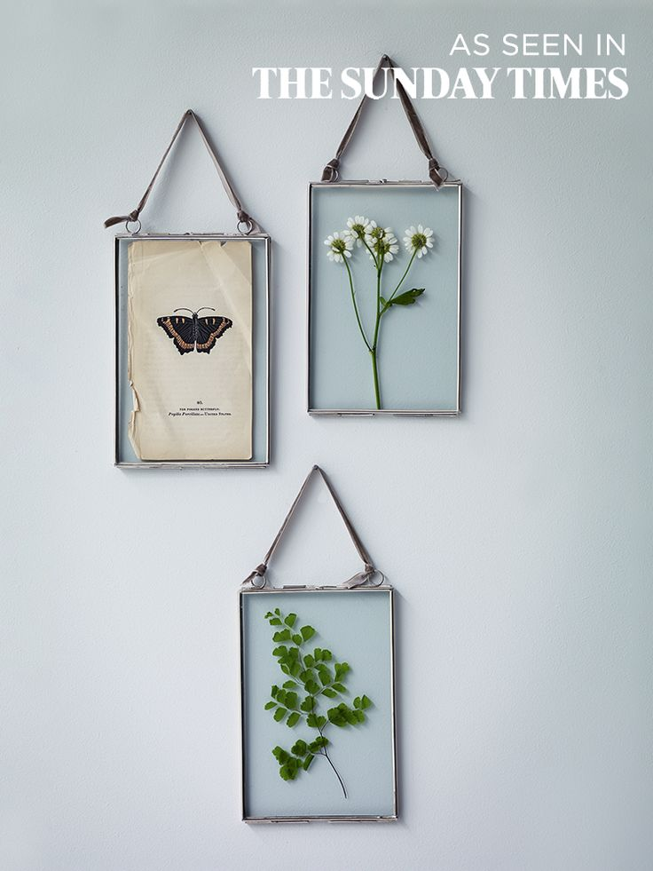 Three Delicate Hanging Frames - Silver - Photo Frames - Decorative Home - Indoor Living