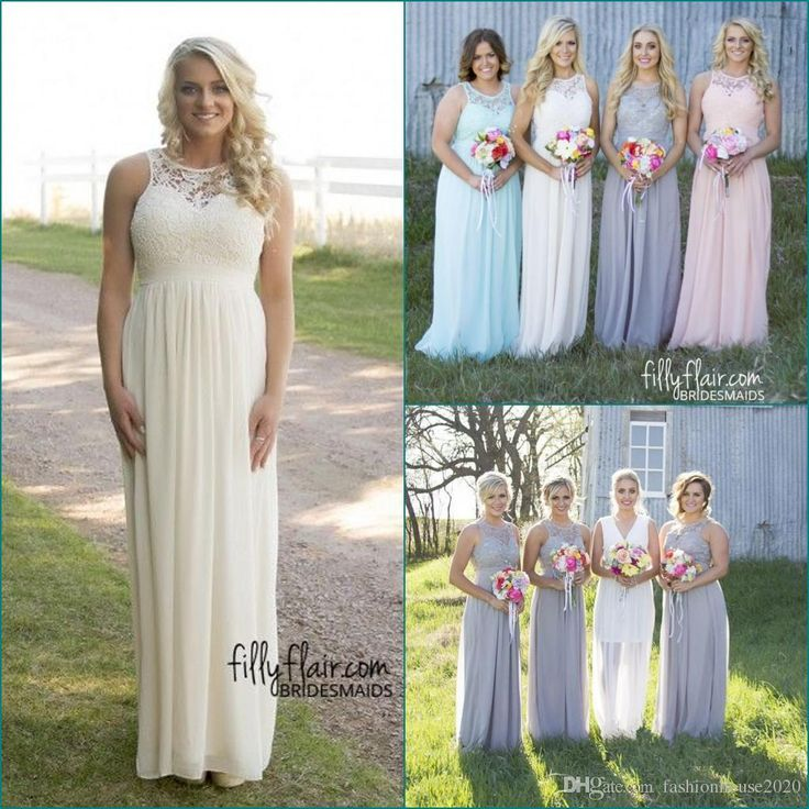 Country Style Lace Chiffon Cheap Bridesmaid Dresses 2017 Jewel Neck Sexy Backless Plus Size Wedding Party Dress Beach Maid Of Honor Gowns Bridesmaid Dresses Country Bridesmaid Dresses Cheap Bridesmaid Dresses Online with $78.86/Piece on Fashionhouse2020's Store | DHgate.com
