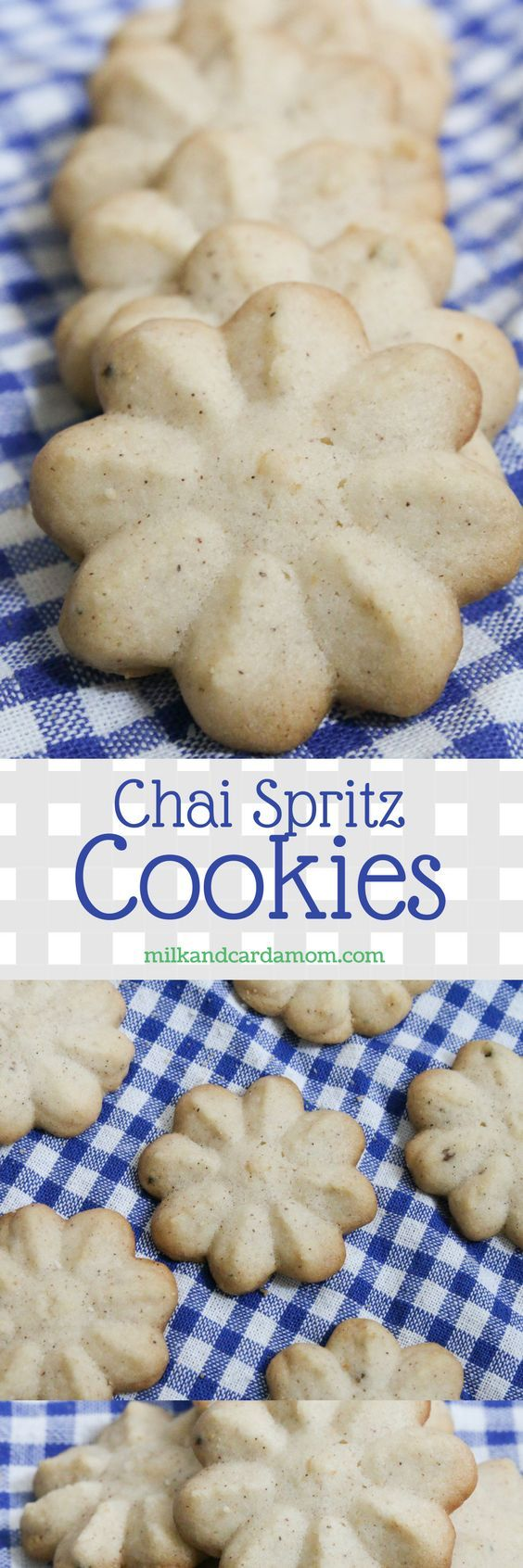 Need to make a big batch of cookies for the holidays? Try this chai spiced spritz cookie recipe!