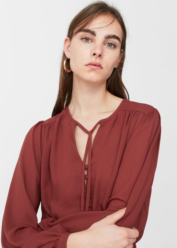 Robe longue fluide | MANGO