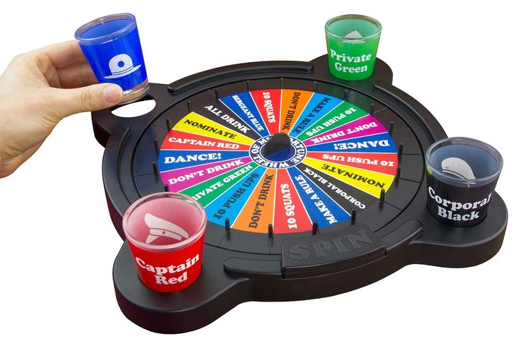 Wheel of Misfortune Drinking Game with Shots - The 'Wheel of Fortune' of Drinking Games