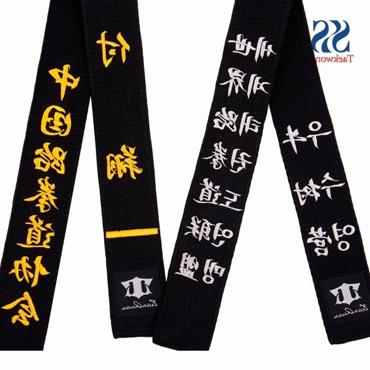 39.86$  Watch now - https://alitems.com/g/1e8d114494b01f4c715516525dc3e8/?i=5&ulp=https%3A%2F%2Fwww.aliexpress.com%2Fitem%2FFree-shipping-Embroidery-taekwondo-belt-embroidery-belt-sport-belt%2F1731436173.html - free shipping WTF ITF Mooto taekwondo belt black Embroidery belt taekwondo itf taekwondo belt embroidery 39.86$