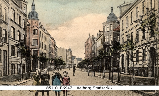 Boulevarden, Aalborg 1912 by Aalborg Stadsarkiv, via Flickr in the archives you can find documents about early city planning. Aalborg got the first city plan in 1912 - the second in Denmark -after Copenhagen