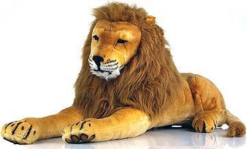 Lars the Lion giant stuffed animal, 75 in long