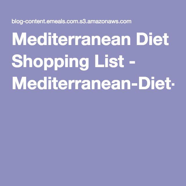 Mediterranean Style Diet Menu: 25+ Best Ideas About Mediterranean Diet Shopping List On
