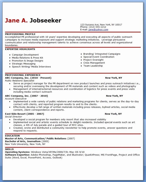 Public Relations Resume Example Lovely Sample Resume For Public Relations Ficer In 2020 Public Relations Sample Resume Resume Objective Examples