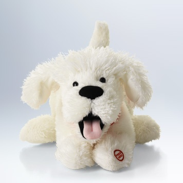 I Ruv You Dog wiggles and wags to a special song. $14.95 with the purchase of 3 Hallmark greeting cards