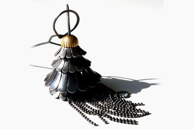 Goyunoto ~ collier ~ Argent noirci