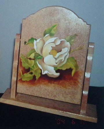 Pintura sobre madera al óleo.