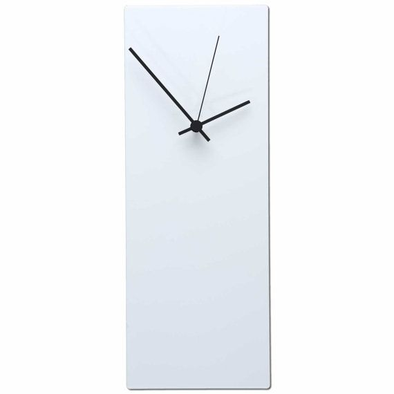 25% OFF! Modern Clocks 'Whiteout Black Clock' - Made in USA Contemporary Clocks - Black & White Wall Art