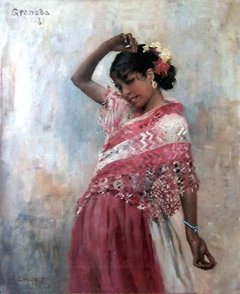 Albert Edelfelt (1854-1905) Dancing Gitana I 1881 oil on canvas